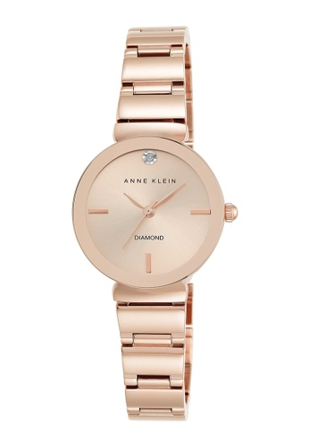 Anne Klein pink Anne Klein Ladies - Diamond Accented Watch - AK-2434RGRG AN844AC0RH81MY_1