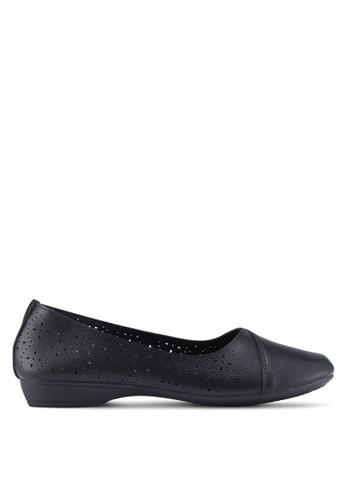 Louis Cuppers 黑色 仿皮平底鞋 F5806SH38DF227GS_1