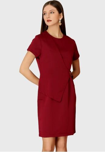 Urban Exchange red Callie Maroon Dress 3C23EAAF964652GS_1