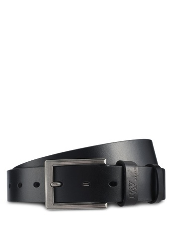RAV Design black 35MM Leather Belt 17E0DACED9C838GS_1
