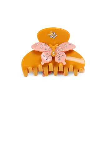 Glamorousky white Fashion and Elegant Orange Butterfly Hair Claw with Cubic Zirconia FD54CAC160B1EBGS_1