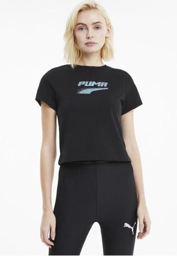 puma black Evide Graphic Short Sleeve Women's Tee 106FDAA4AD9225GS_1