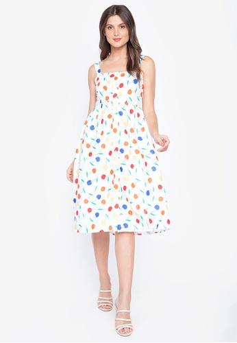 Lady N white Cherry Spaghetti Strap Fashion Summer Dress B1B4BAAFFBFF92GS_1