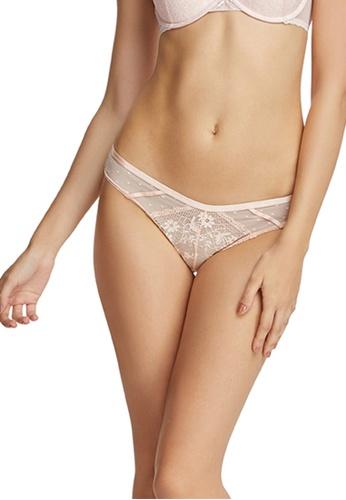 6IXTY8IGHT pink Lace Mesh Low-rise Cheeky Panty PT09490 D5DA4US9C2C0C6GS_1