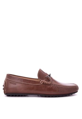 ECCO brown Hybrid Moc Loafers & Moccasins EC876SH0JC7YPH_1