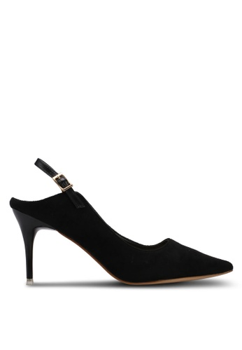 Something Borrowed black Slingback Heels DA76CSH5BD3003GS_1