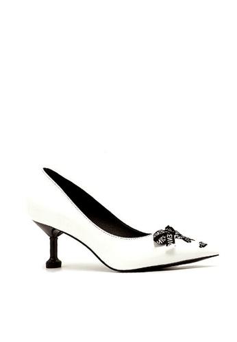 Twenty Eight Shoes 白色 印花織帶高跟鞋 VL180689 F9046SH498B7F7GS_1