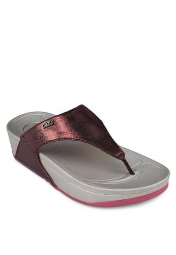 金屬感夾腳厚底esprit台灣官網涼鞋, 女鞋, 鞋