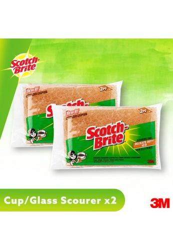 Scotch-Brite 3M Scotch Brite Cup / Glass Delicated Scourer 2pcs pad [41Y-2M] [Bundle of 2] 360ACESD98A8C1GS_1