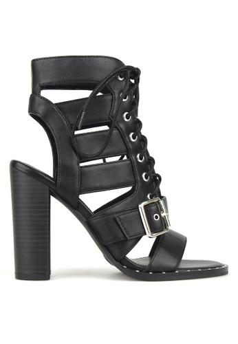 Betts black Respect Lace Up Block Heels 79C1DSHACA34E8GS_1