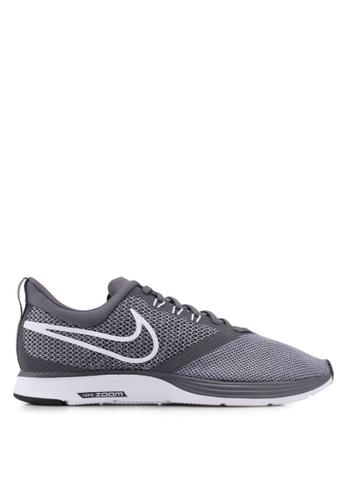 Nike grey Nike Zoom Strike Running Shoes 0EABDSHE03B333GS_1