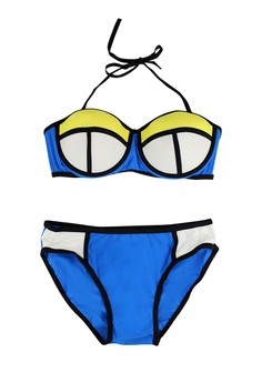 Patchwork Two Piece Bikini UV Protect Swimwear