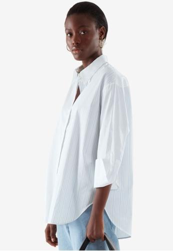 COS white Striped Shirt A0A07AAA6949C0GS_1