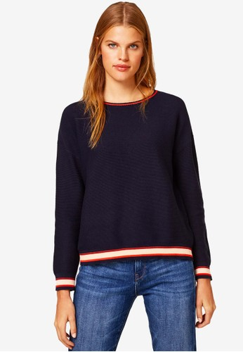 ESPRIT multi and navy Long Sleeve Knit Top 7D092AA04364A4GS_1