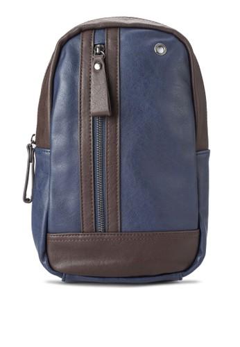 撞色矩形PU 經典胸包, 包, 後背esprit 品牌包