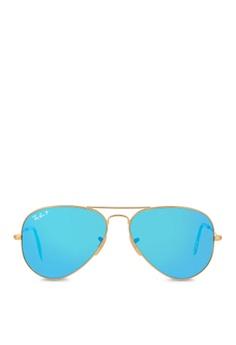 9f696d9877dc0 Ray-Ban Aviator Large Metal RB3025 Polarized Sunglasses RA370GL36SALSG 1