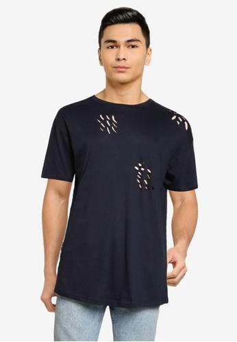 Brave Soul 海軍藍色 圓領T恤 17392AA2477916GS_1