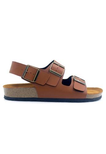 SoleSimple brown Milan - Camel Sandals & Flip Flops 59DF5SH636921CGS_1