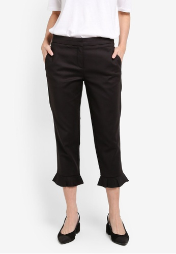 ESPRIT black Woven Cropped Pants ES374AA0T14QMY_1