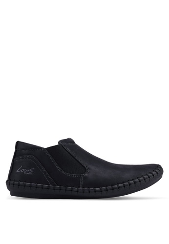 Louis Cuppers 黑色 Faux Leather Loafers E2771SH47158F0GS_1