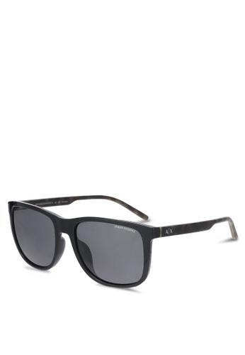 Armani Exchange black Armani AX4070SF Polarized Sunglasses AR162GL0SEPZMY_1