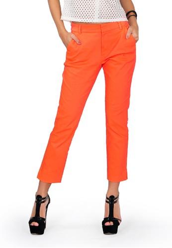 SJO & SIMPAPLY orange SJO's Renital Orange Women's Pants 5C911AA033D441GS_1