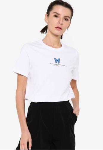 361° white Sports Life Short Sleeve T-Shirt 55D2EAAF69CC54GS_1