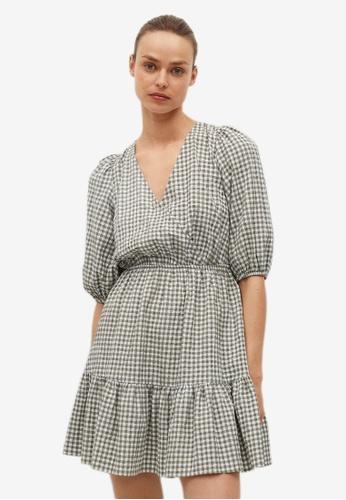 Mango beige Vichy Check Dress B8AABAA30065D9GS_1