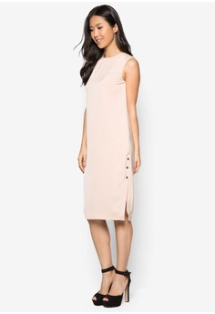 Collection Side Poppers Midi Dress