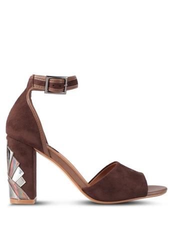 ZALORA brown Heel Cut Out High Heels 1A0DBSH53C044FGS_1