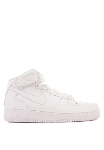 Nike white Nike Air Force 1 Mid '07 Sneakers NI126SH16RSPPH_1