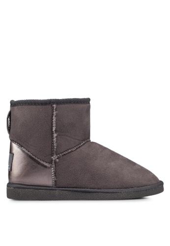 Carlton London 灰色 防水麂皮靴子 FE262SH45BD01EGS_1