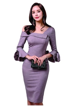 0344a4a2242a ICONIC Pink Sheath Dress with bow-knot sleeves S  35.00. Sizes S M L