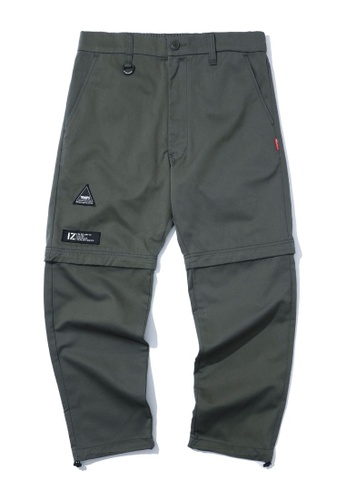 izzue green Convertible pants 207A2AA96B0517GS_1