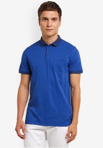 Boss Orange blue Previously Polo Shirt BO434AA0RPQQMY_1