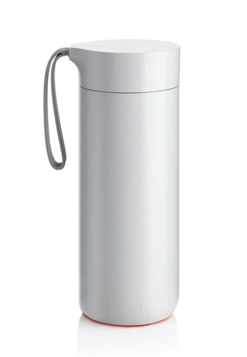 Artiart white Butterfly Thermal Suction Bottle (White) Design By ArtiArt 13877HL3179CD5GS_1