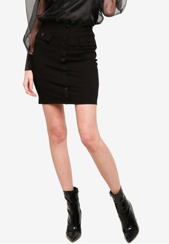 Guess black Ilaria Mini Skirt 1B518AA0B0D6C5GS_1