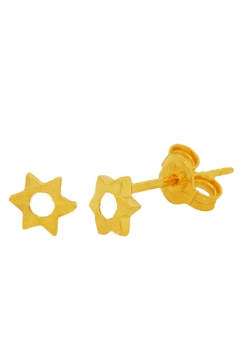 LITZ gold LITZ 916 (22K) Gold Star Earrings 7586EAC76A8053GS_1