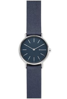 2f4da640c19da Skagen blue Signatur Slim Leather Watch SKW2728 37A24ACBFE0158GS 1