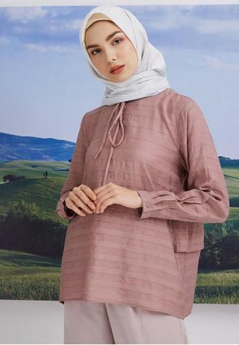 Hijabenka pink Loisa Flare Top Pink 77506AA07F7D15GS_1