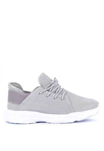 H2Ocean grey Clovis Lace up Sneakers DEC08SHC386C60GS_1