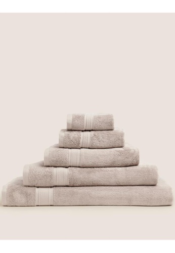 MARKS & SPENCER brown M&S Cotton Bamboo Bath Towel 8E17FHLABD83B5GS_1