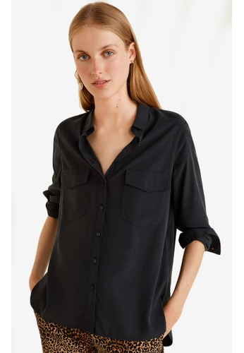 Mango black Decorative Pocketed Shirt 4A1F1AAC241DEAGS_1