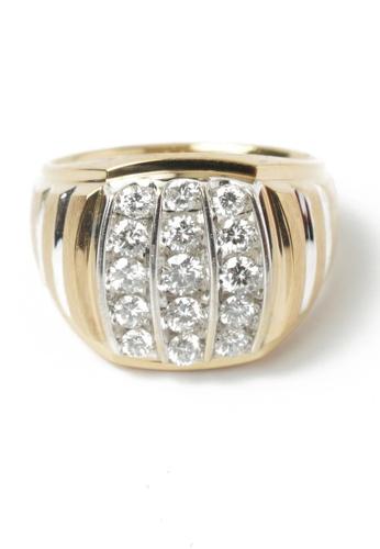 CEBUANA LHUILLIER JEWELRY gold 14 Karat Yellow Gold Ring with Diamonds BA55CACD4F7933GS_1