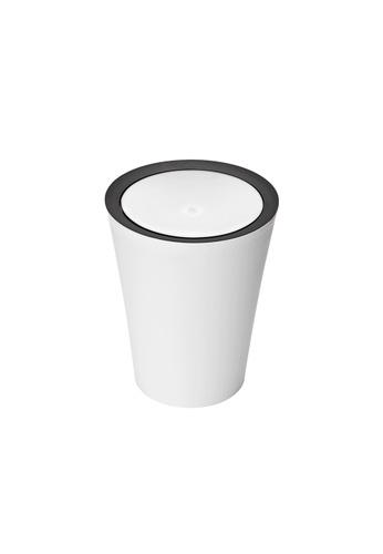 Qualy Qualy Round Flip Bin (White) 39D30HL3EDBE14GS_1