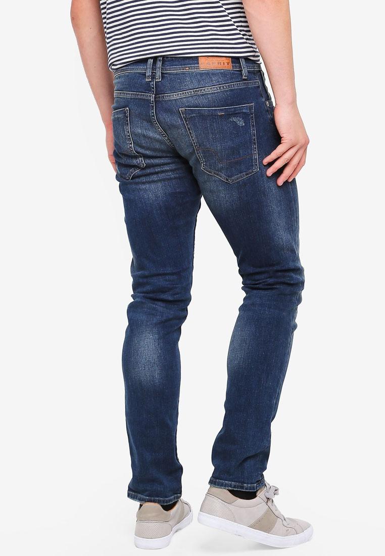 ESPRIT Denim Medium Blue Length Wash Service Pants gaqxtSfnaH