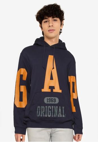 Gap navy Logo Hoodie 5B56EAAF70F5E2GS_1