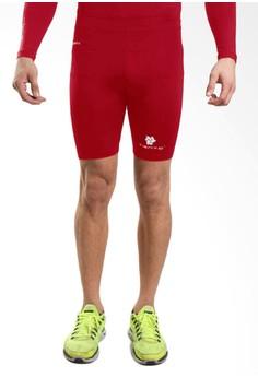 harga Tiento Baselayer Rash Guard Compression Short Pants Red White Zalora.co.id