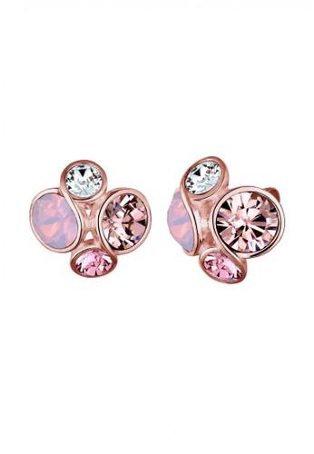 Elli Germany pink Perhiasan Wanita Perak Asli - Silver Anting Crystal Rose Rosegold Plated 21E68AC6D4B86EGS_1