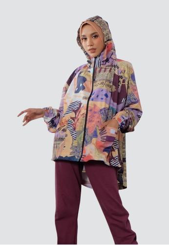 BELYANZA purple and multi and lilac purple BELYANZA - Gisya Jacket Purple 950FBAAEEA37AEGS_1